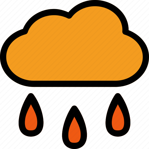 cloud, rain, water, weather, wet icon