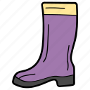 camping boots, foot protection, footwear, high boots, hiking shoes icon