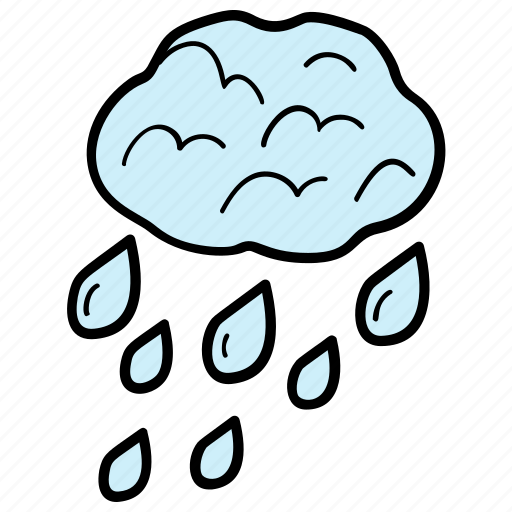 drizzling, monsoon, rain, water droplets, weather icon