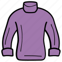 apparel, clothes, jacket, jersey, sweater, warm clothes icon