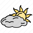 autumn, cloudy day, cloudy weather, daytime, weather icon