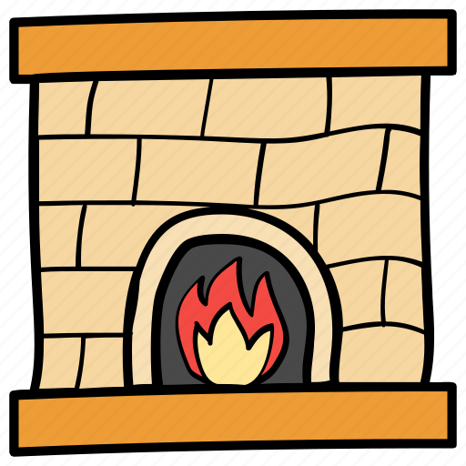 campfire, fire side, fireplace, furnace, woodfire icon