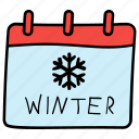calendar, event schedule, winter calendar, winter holiday, winter schedule icon