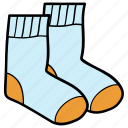 apparel, baby socks, footwear, hosiery, socks, warm socks icon