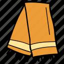 cowl, muffler, neckerchief, scarf, stole, winter accessory icon