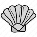 clam, cockle, mollusc, seafood, seashell icon