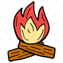 bonfire, campfire, cauldron, conventional cooking, outdoor cooking icon