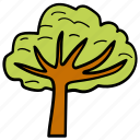 forest, garden, greenery, meadows, tree icon