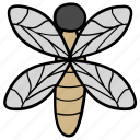 bee, bumblebee, honeybee, insect, moth icon