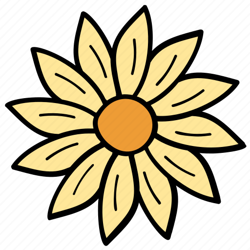daisy, floral, flower, fragrance, nature icon
