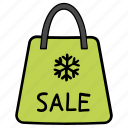 sale, shopping, shopping bag, winter sale, winter shopping icon