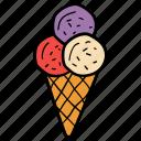 dessert, frozen food, ice cream cone, ice cream sundae, sweet icon