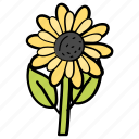 flower, garden, nature, petals, sunflower icon