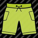 beach cloth, bermudas, men's short, short pant, underwear icon