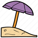 beach, canopy, parasol, sunshade, umbrella icon