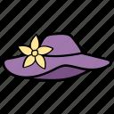 boater, cap, floppy hat, hat, headwear, shade icon