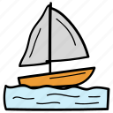 boat, sailboat, sailing, ship, shipping icon