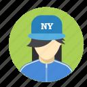 avatar, female, interface, person, profile, user, woman icon