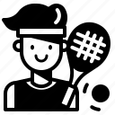 avatar, man, player, profession, sport, tennis icon
