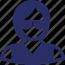 female teacher, girl, receptionist, teacher, tutor avatar icon