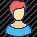 avatar, female, professor, teacher icon