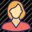 girl, girl avatar, teenager, teener, young girl icon