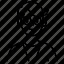 avatar, glasses, male, man, profile
