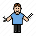 avatar, barbar, man icon