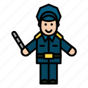 avatar, man, officer, policeman icon