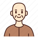 avatar, user, profile, man, male, old