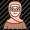 avatar, glasses, user, profile, woman, female, girl