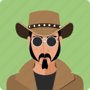 cawboy, head, human, male, person, profile, user icon