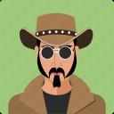 cawboy, head, human, male, person, profile, user icon
