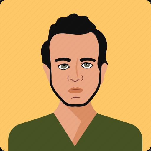 avatar, face, guy, man, men, serious, user icon