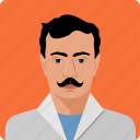 business, human, male, people, person, profile, serious icon
