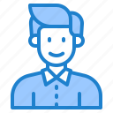avatar, profile, businessman, male, man