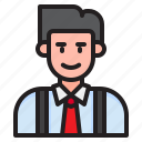 avatar, profile, businessman, man, male