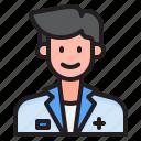 avatar, profile, doctor, man, male