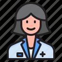 avatar, woman, female, doctor, profile