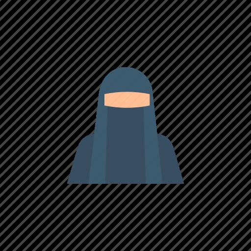 avatar, girl, girl avatar, hijab, muslim, user icon