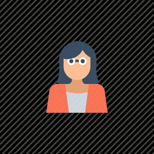 avatar, girl, girl avatar, glasses, user icon