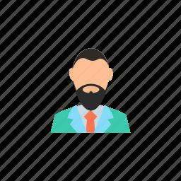 avatar, beard, boy, character, designer, glasses, guy icon