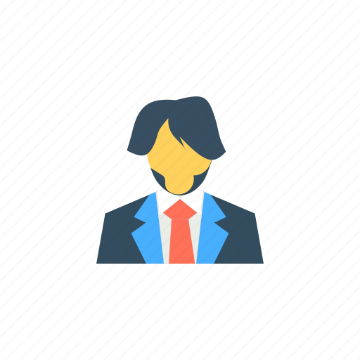 avatar, beard, boy, business, character, clever icon