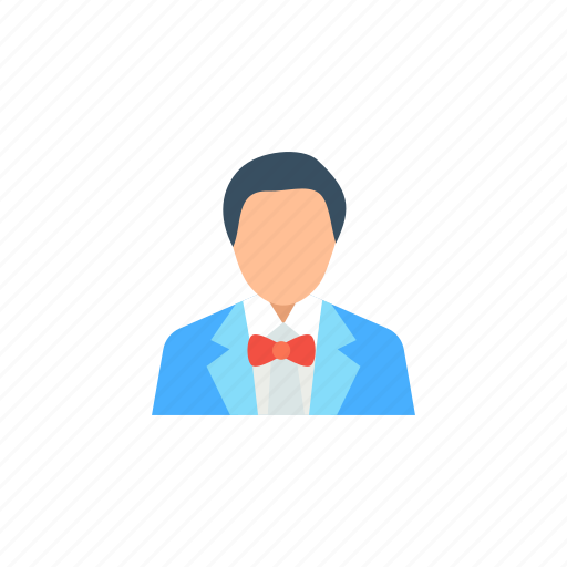 avatar, blond, boy, business, character, clever icon