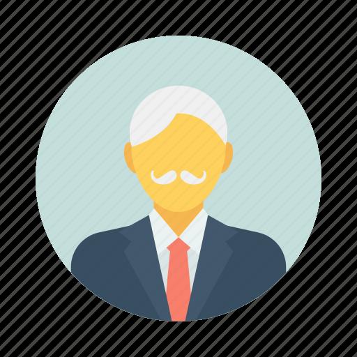 avatar, character, elder, elderly, glasses, grand father icon
