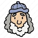 adult, avatar, doodle, man, old, people, profile icon