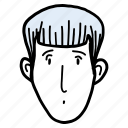 avatar, boy, doodle, man, people, profile, young