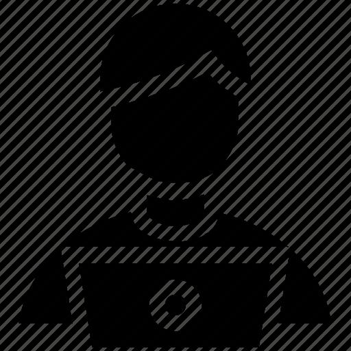 admin, avatar, computer, laptop, men, people, people user, user icon