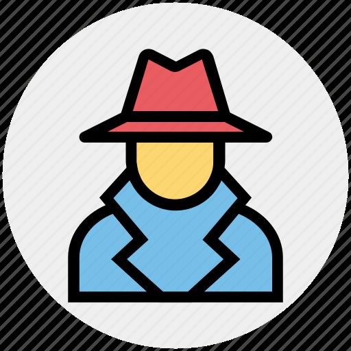 court, crime, criminal, detective, law, mafia spy thief, police icon