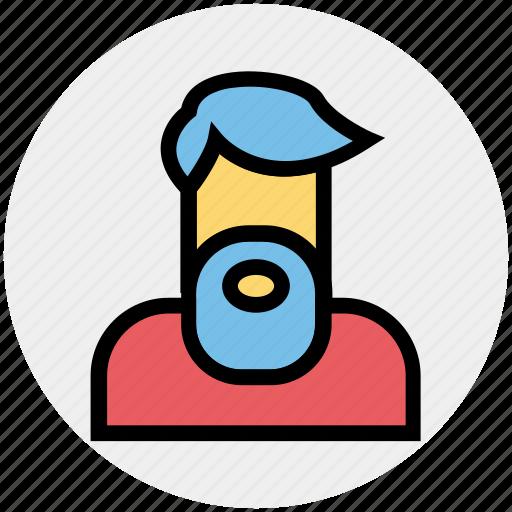 avatar, beard, farmer, man, old, people, services icon